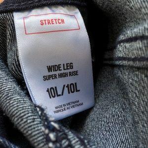 Express Jeans - Express Wide Leg Exposed Zipper Jeans 10 LONG
